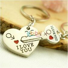 Giorno Coppia Lover a forma di cuore di San Valentino Chiave Chiave Keychain