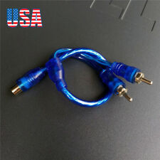 1 RCA Female to 2 RCA Male Plug Y Splitter Audio Video AV Adapter Cable 30cm