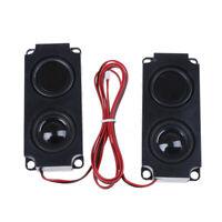 2Pcs audio portable 10045 LED TV speaker 8 Ohm 5W double diaphragm bass speakerM
