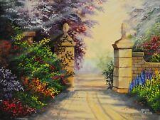 "Gary Adams ""Garden Path"", Landscape, 12""x16"", Acrylic"