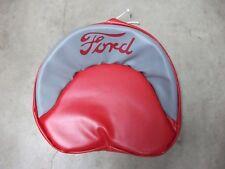 FORD TRACTOR TIE PAN SEAT COVER (Red & Grey) 8N 2N 9N 600 800
