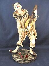 Clown Playing a Mandolin  Circus Collectible Figurine Home Decor