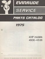 1975 EVINRUDE OUTBOARD 4 HP PARTS MANUAL P/N 279795 (645)