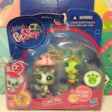 NEW LITTLEST PET SHOP 1823 1824 SUGAR GLIDER & GREEN BIRD RARE w/ 1 FREE PET