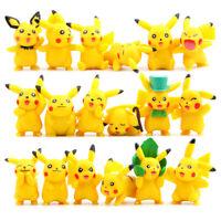 18x Pokemon Pikachu Figure Hybrid PC Cartoon Model Anime Character Toy Doll Gift