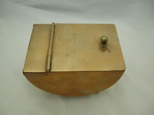 Joseph Heinrichs Bronze Sterling Silver half moon hinged box