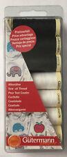 GUTERMANN Sew tutti i thread Set Nero & Bianco - 7 RULLI 100 M-artigianato di cucito