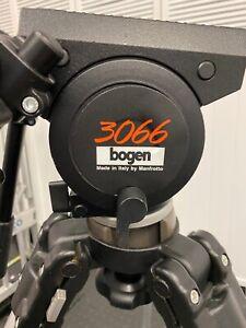 Bogen 3061 HD tripod w/ Heavy Duty 3066 head with sliding plate 2 handles case