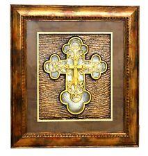 Christian wall frame / Jesus Cross / 1st communion favor/Christening/Gift # 1452