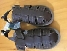 New OshKosh Bgosh Boy Brown Sandals Shoes Washable
