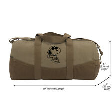 """Snoopy Joe Cool Two Tone 19"""" Duffle Bag with Brown Bottom and Detachable Strap"""