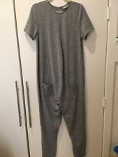ASOS Maternity Jumper Jumpsuit Overalls Knit Size UK 10, US 6 Grey