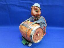 Jouet ancien automate élec. Mac the Turtel with the Barrel 1960s