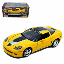 Maisto 1:24 Corvette Z06 GT1 Commemorative Metal Diecast Model Car New Yellow