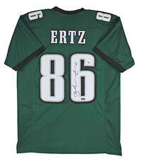 Eagles Zach Ertz Authentic Signed Green Jersey Autographed BAS