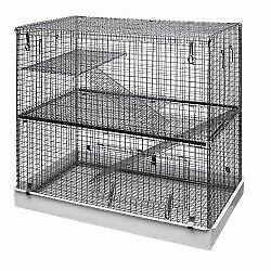 Lazy Bones Wire Rodent Cage Double Storey - 72x45 - 67948