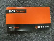 2005 Dodge Caravan Minivan Owner Owner's Manual User Guide SE SXT 2.4L 3.3L