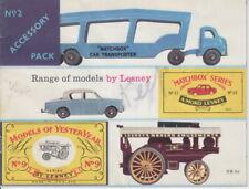 Matchbox / Lesney 1959 Jahreskatalog USA 2. Ausgabe