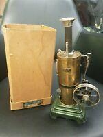 Fabulous Marklin Vertical Steam Machine with the Original Box! Germany, 1906