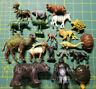 Lot of 19  Vintage Hong Kong Plastic Animal Figures Painted Features Elk Safari