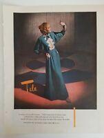 1946 Tula Hostess gown Romaine crepe women's lingerie fashion color AD