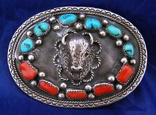 Buffalo Belt Buckle Row Coral,Row Turq. &