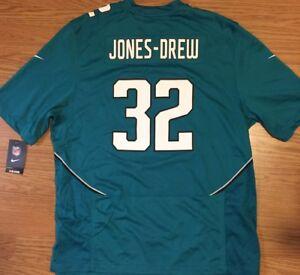 JACKSONVILLE JAGUARS Jersey NIKE ON FIELD Mens XL JONES DREW #32 NFL NICE!