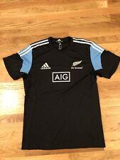 ADIDAS RUGBY ALL BLACKS NEW ZEALAND Jersey SHIRT SIZE XL 3 Stripes AIG Logo Rare