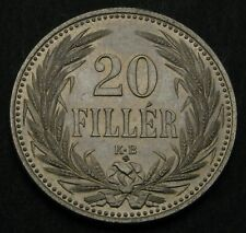 HUNGARY 20 Filler 1914 KB Official restrike - Nickel - Franz Joseph I. - 166