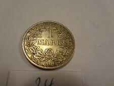Reichsmark, 1 Mark, Reichsmünze, 1906 Buchstabe A silber  unbehandelt, top (24)