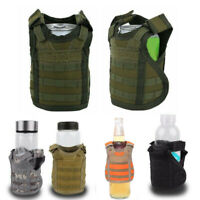 Military Tactical Mini Vest Soda Beer Bottle Molle Vest Layer Holder Carrier Bag
