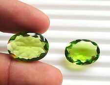 17.10Ct 2 Ps hydro Peridot Loose Gemstone Green Peridot Oval Faceted 13X18 H2942
