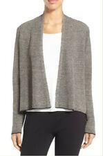 Eileen Fisher Organic Linen Open Front Cardigan New
