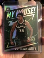 2019/20 Optic Giannis Antetokounmpo My House Bucks Holo Silver Prizm Card