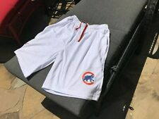 Chicago Cubs Shorts with 2 Side Pockets and 1 Rear Pocket Cotton/Poly Xl White