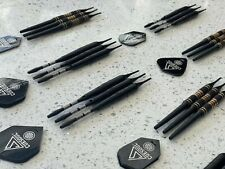 CUESOUL darts 19 Grams, Lightly used (9 Dart packages) with leather pouches