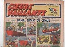COEURS VAILLANTS 1942 n°45. Hergé. Tintin Le crabe aux Pinces d'Or.