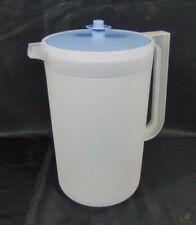 Tupperware 1416 - Sheer One Gallon Pitcher with Light Blue Lid
