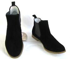 LEVI'S - Botas botines planas cuero ante negro 39 - NUEVO