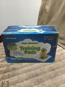 """All-Absorb Super Absorbent Box Of 100 Puppy Training Pads 22""""x23"""""""
