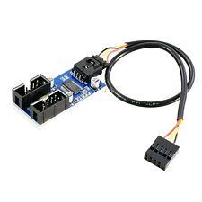 F71 USB 2.0 Hub intern Splitter 1x 5Pin zu 2x 9Pin Header Erweiterung um 4 Ports