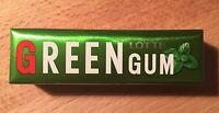 """Lotte, Chewing Gum, """"GREEN GUM"""" 9 gum sticks, Japan Long Seller, Candy"""