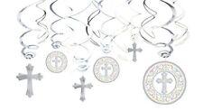 Amscan International Décoration avec 12 spirales Motif communion