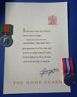 Home Guard / LDV  Replica CertificateWith personlised Inscription Of Recipient