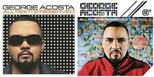 Lot of 2 double CD's GEORGE ACOSTA All Rights Reserved&Volume 2 ~DJ/dance/trance