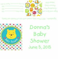 Winnie The Pooh Baby Shower Candy Bar Wrappers/Party Favors
