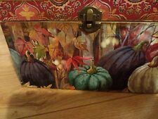 keepsake trinket jewelry SHABBY gift box vintage pumpkin kitchen recipes Yany