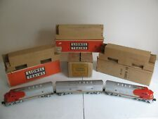 Vintage 1950 Lionel Trains O/O-27 Santa Fe F3 Diesel ABA Units #2343 & 2343C VG