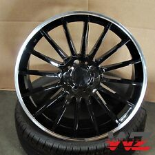 "19"" 787 Style Wheels Machined Gloss Black Fits Mercedes AMG C S CLA CLK E Class"