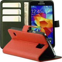 Tasche für Samsung Galaxy S5 Kunstleder Schutz Hülle Case i9600 S 5 rot